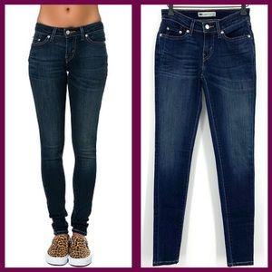 Levi's blue jean skinny leggings EUC